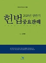 2020 상반기 헌법중요판례